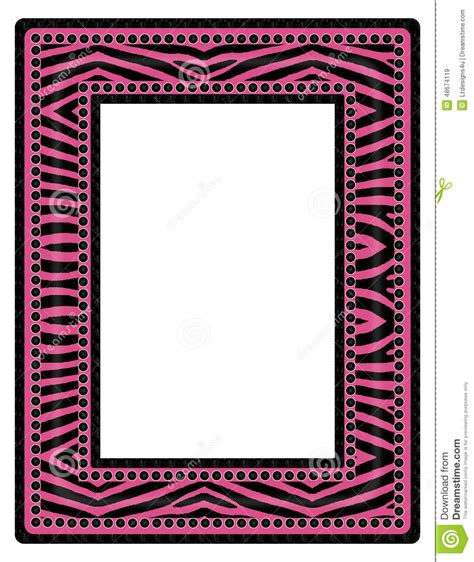 zebra pattern frame zebra print frame clipart 82