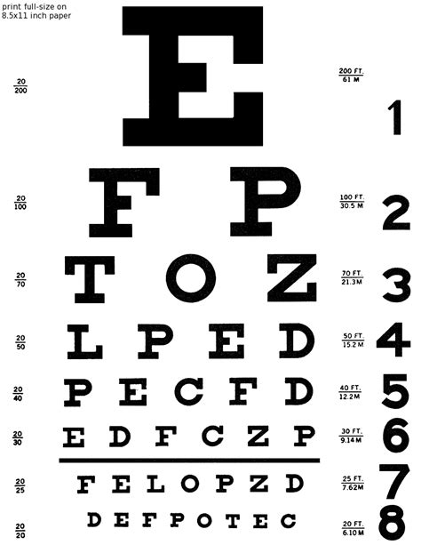 printable eye chart letter size 3squeezes diy eye chart love note