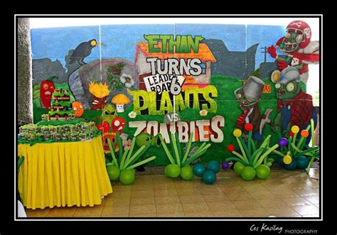 fiestas tematicas para nios de plantas vs zombis zombie decor plants vs zombies birthday party pinterest