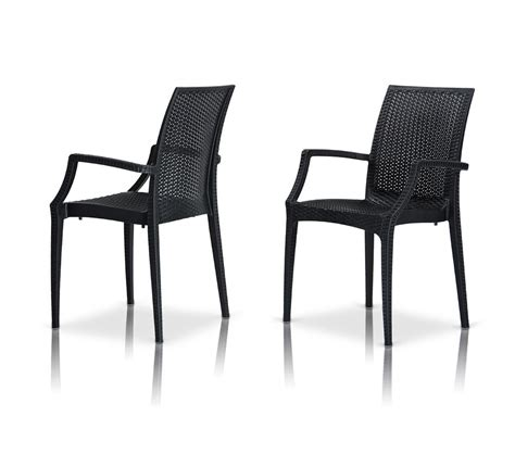 Outdoor Dining Chairs Modern Dreamfurniture Bistrot Modern Patio Dining Arm Chair