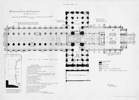 gothic cathedral floor plan winchester cathedral floor plan english medieval