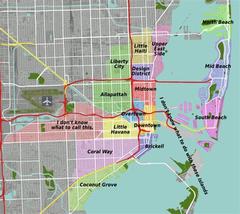 miami neighborhood map file miami districts map proposed png