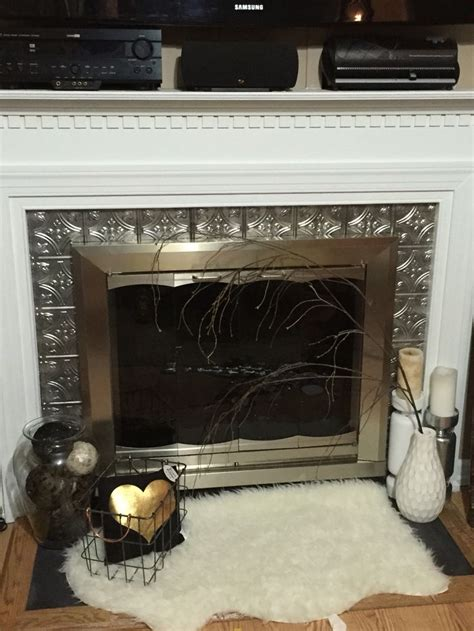 Metallic Tile Fireplace by 1000 Ideas About Tile Around Fireplace On
