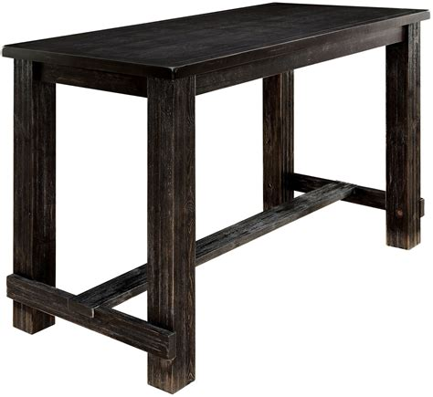 Black Bar Table Sania Ii Antique Black Bar Table From Furniture Of America Coleman Furniture