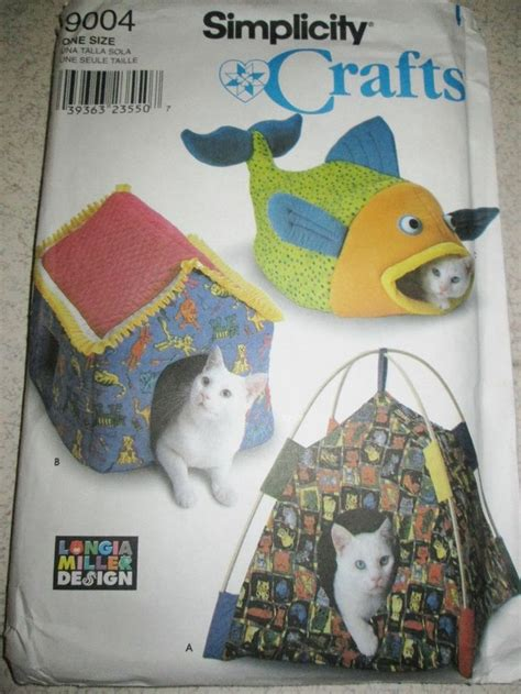 cat bed pattern simplicity sewing pattern 9004 cat pet bed fish house tent