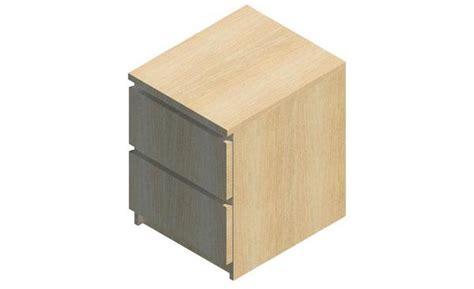 Malm 2 Drawer by Revitcity Object Malm 2 Drawer Dresser