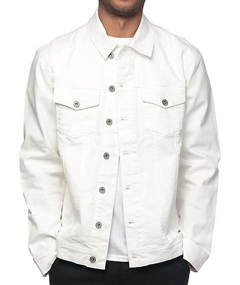 Jaket Denim White ninth painted white denim jacket at zumiez pdp