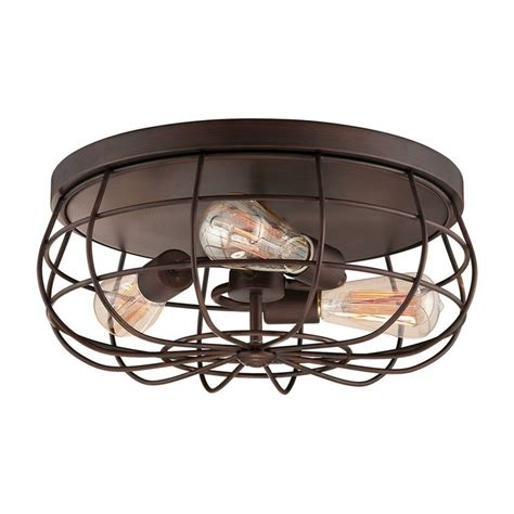 Industrial Cage Ceiling Light by Industrial Cage Ceiling Light Available In 2 Colors