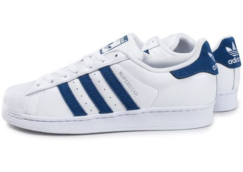adidas superstar blanche et bleu marine chaussures homme chausport