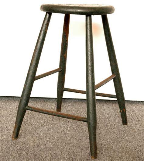 19thc original green stool at 1stdibs