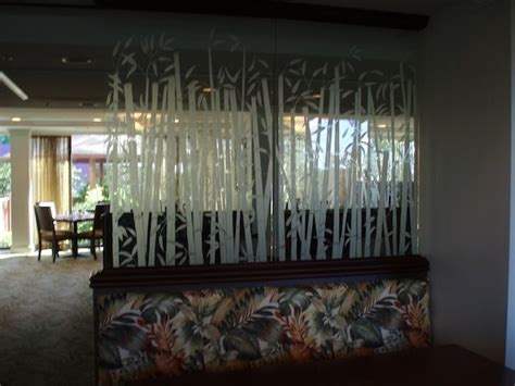 Restaurant Booth Dividers U2013 Senalka Custom Made Restaurant Etched Glass Booth Dividers By La