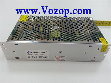 Lh Power Supply Adaptor 12v 20a 240w Led Cctv Kamera dc 12v 20a 240w power supply metal net switching power driver led strips led controllers led
