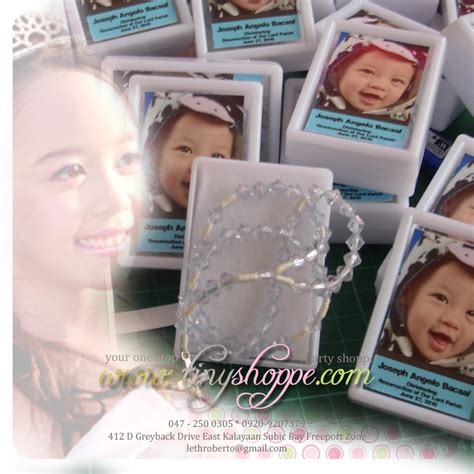 Baptism Giveaway Ideas Pinterest - personalized rosary souvenir baptismal rosary personalized giftidea christening