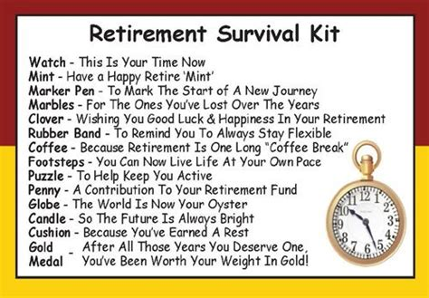 One For All Gift Card Ireland - retirement survival kit in a can humorous novelty fun gift friend work colleague