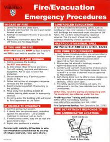 Emergency Procedures In The Workplace Template by Alphabetical Listing Safety Office