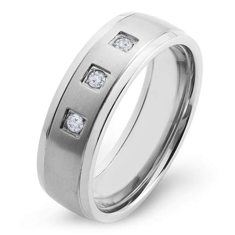 comfort ring sizing titanium diamond brushed comfort fit ring size 11