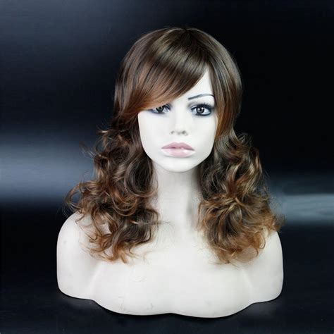 ican i dye bijoux realistic hair 23 cheap synthetic long kinky curly fake hair full wig