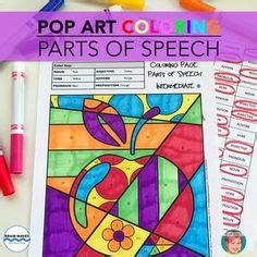 coloring page parts of speech advanced 1000 images about english language arts on pinterest