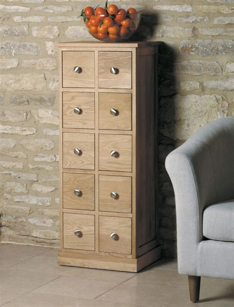 dvd storage drawers furniture buy baumhaus mobel oak multi drawer cd and dvd storage