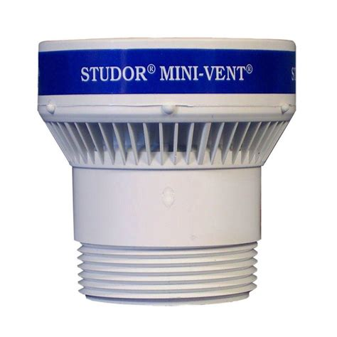 Plumbing Studor Vent by Studor 1 1 2 In Or 2 In Pvc Mini Vent Adapter 20341