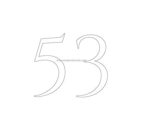 printable greek numbers free roman greek 53 number stencil freenumberstencils com