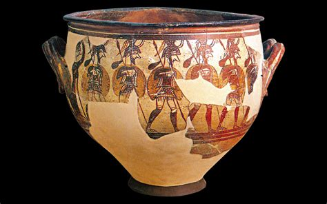 Mycenaean Warrior Vase by Mycenae Tiryns The Mighty Citadels Greece Is