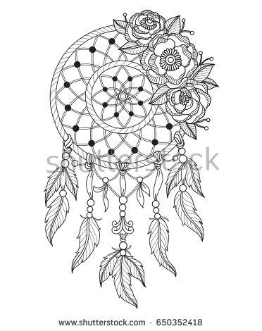 american inspired coloring book dreamcatcher 50 tribal mandalas patterns detailed designs books indian catcher zentangle stylized stock