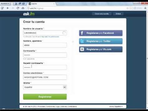 Find On Ask Fm Como Crear Una Cuenta Ask Fm