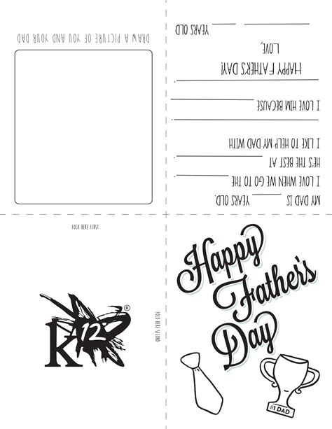 Free Printable Card Templates Fathers Day by Printable S Day Card For To Make Learning
