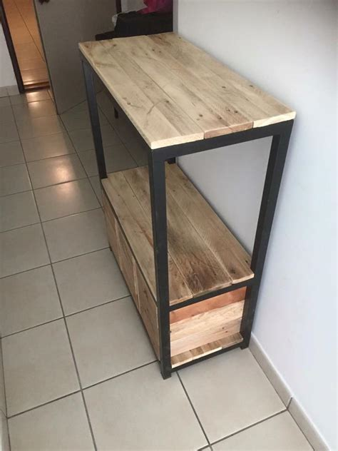 Hallway And Entry Tables Pallet Entryway Table With Drawers Pallet Furniture Plans