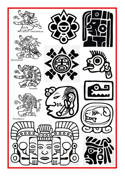 aztec bird tattoo aztec and mayan symbols ideas pinte