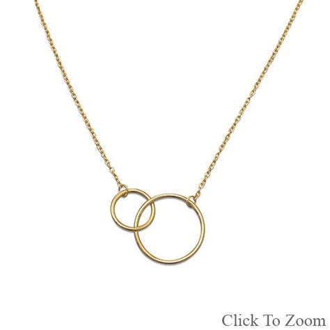 14 karat gold plated circle link necklace