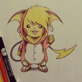 raichu tattoo pikachu in raichu costume concept ideas
