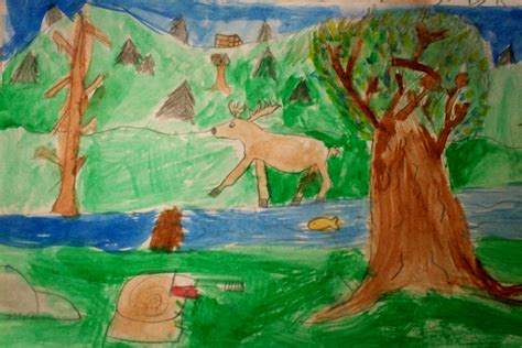 Landscape Grade 4 With Mr E Landscape Paintings 4th Grade
