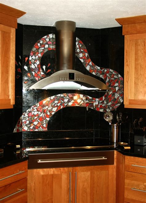 custom glass backsplash home decorating ideas