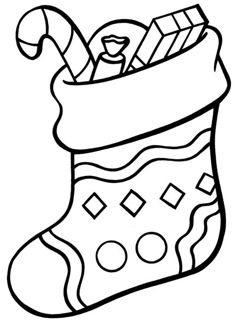 coloring page for christmas stocking christmas stocking drawings cliparts co