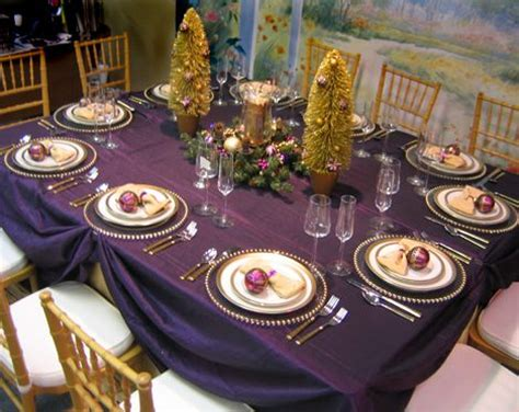 eggplant colored table linens chairs chiavari chairs linen lamour gold linen