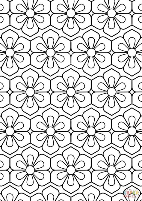 flower pattern coloring flower pattern coloring page free printable coloring pages