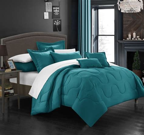 Teal Queen Comforter Set Teal Bedding Sets Ease Bedding With Style