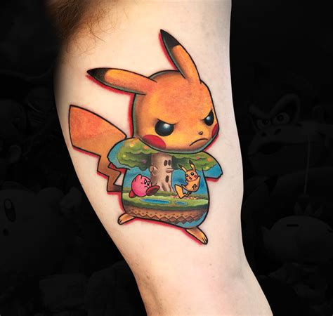 super smash bros tattoo marc durrant new school tattooing out of california