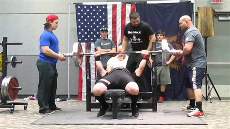 big show bench press big mike power lifting big mike 446 lbs raw bench press youtube