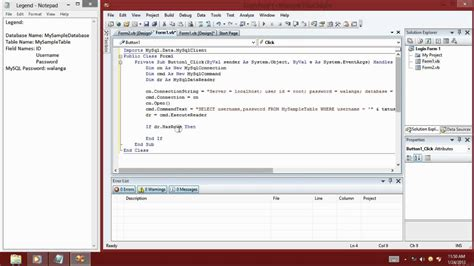 design form for vb net creating login form using vb net 2008 and mysql database