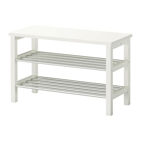 ikea white storage bench tjusig bench with shoe storage white 81x50 cm ikea