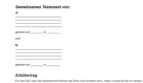 Testament Schreiben Muster Kostenlos Berliner Testament Testament Verfassen De