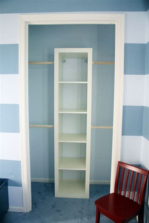 Wall Closets Ikea by Super Cheap Small Closet Makeover Anchor An Ikea Expedit