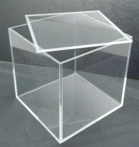Acrilix Box Can Be Assembled clear acrylic rectangle storage display box with lid buy clear acrylic display box with lid