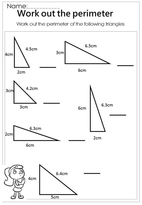 printable area of triangle worksheets work out the triangle perimeter worksheet