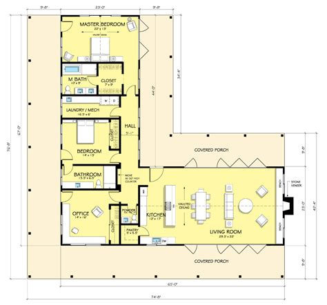L Shaped Open Floor Plan | l shaped house plans home decorating ideasbathroom