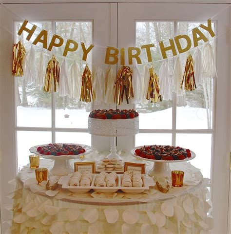 themes golden gold chagne birthday party ideas photo 1 of 14