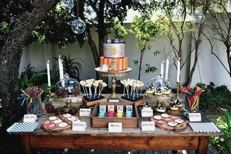 Kitchen Themed Bridal Shower Ideas by Harry Potter Theme Party Plan Me Pretty